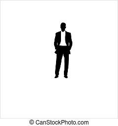 garnitur, ilustracja, człowiek, wektor, t-shirt.