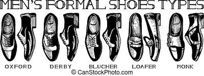 garnitur, przewodnik, ultimate, obuwie, menu