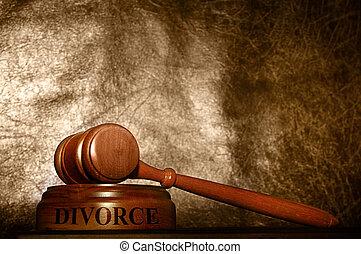 gavel, rozwód, prawny