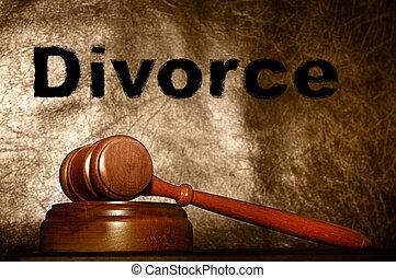 gavel, tekst, prawny, rozwód