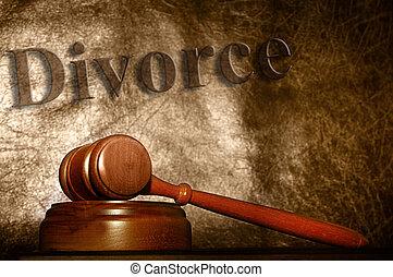 gavel, tekst, tło, prawny, rozwód