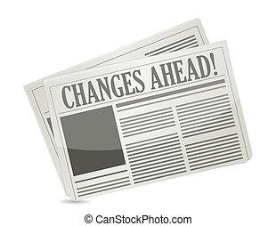 gazeta, zmiany, na przodzie