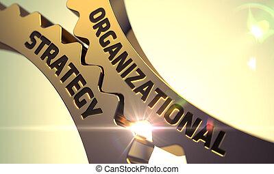 gears., złoty, organizacyjny, strategia, metaliczny