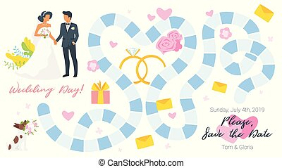 gemowa deska, szablon, ślub