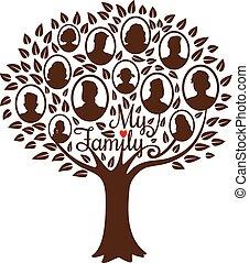 genealogical, drzewo, rodzina