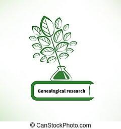 genealogical, praca badawcza, logo