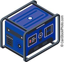 generator, styl, isometric, ikona, moc