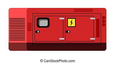 generator, white., odizolowany, diesel, przemysłowy