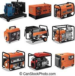 generatory, moc