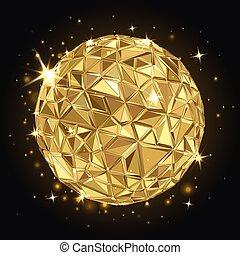 geometryczny, disco piłka