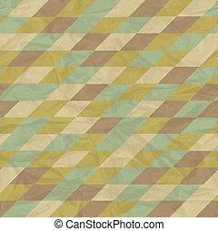 geometryczny, pattern., seamless, retro