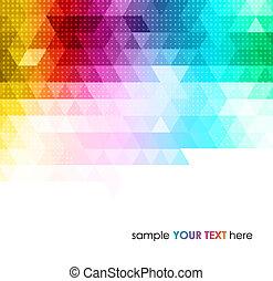geometryczny, tło, abstrakcyjny, barwny