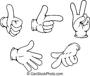 gesty, dodatni, komplet, siła robocza