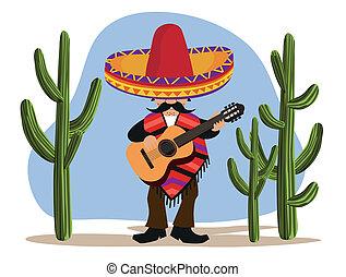 gitara, meksykanin