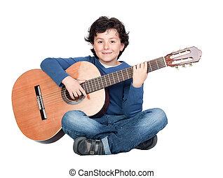 gitara, muzyka, interpretacja, student