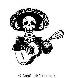 gitarowy gracz, mariachi