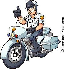 gliniarz, motocykl