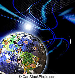 globalna sieć, ludzie, na cały świat
