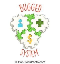 globalny, świat, pojęcie, kryzys, coronavirus