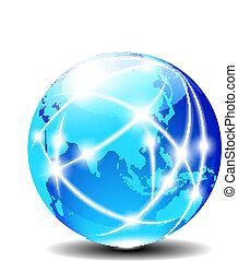 globalny, porcelana, azja