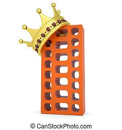 gmach, cegła, korona