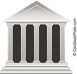 gmach, grek, historyczny, bank