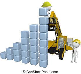 gmach, handlowy zaludniają, wykres, wyposażenie, zbudowanie