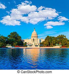gmach, kapitol, kongres, waszyngton dc, na