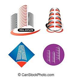 gmach, logo, nowoczesny, komplet