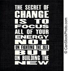 gmach, wszystko, inspirujący, stary, tekst, energia, motywacja, ale, ognisko, tajemnica, wektor, bojowy, zacytować, nie, new., poster., twój, zmiana