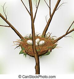 gniazdować jajko