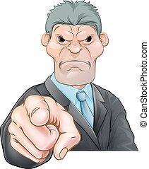 gniewny, biznesmen, spoinowanie
