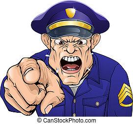 gniewny, policjant