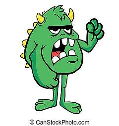 gniewny, potwór