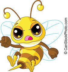 gniewny, sprytny, pszczoła