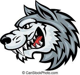 gniewny, wilk
