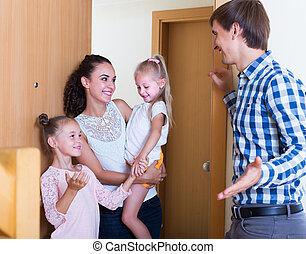 gościnny, goście, expected, spotkanie, householder
