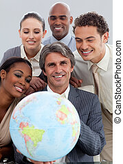 gobe, handlowy, pokaz, radosny, grupa, etniczny, dzierżawa, terretrial, rozmaitość