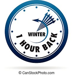godzina, zegar, zbawczy, czas, jeden, światło dzienne, back., change.