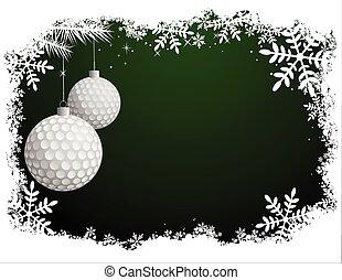 golf, boże narodzenie, tło