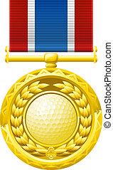 golf, medal