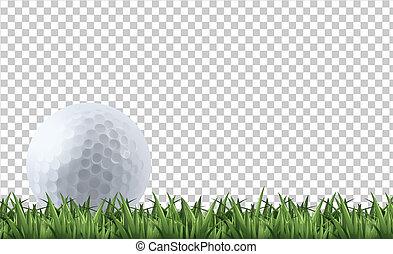 golf, trawa, piłka