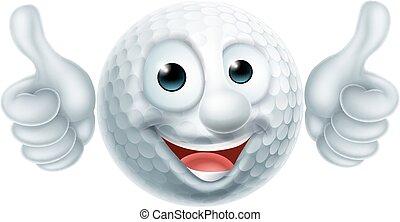 golfowa piłka, litera, rysunek
