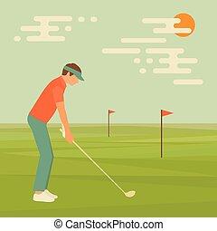 golfowy klub, sport