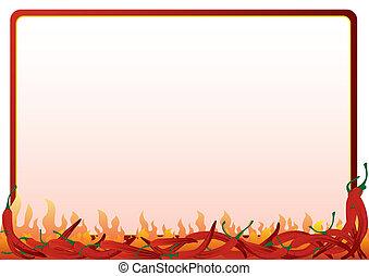 gorący pieprz, czerwony
