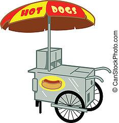 gorący pies stoją