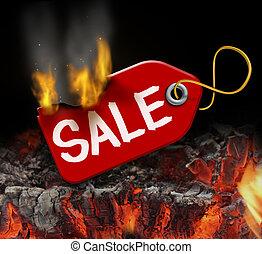 gorący, sprzedaż