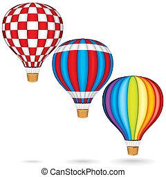 gorący, wektor, balony, powietrze