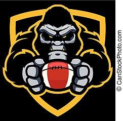 goryl, amerykańska piłka nożna, maskotka