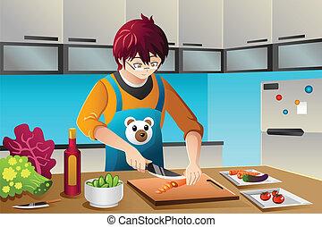 gotowanie, człowiek